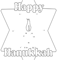 Thumbnail image for Hanukkah Star 1-15 Dot-to-Dot