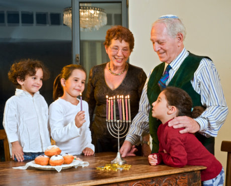 What is a Hanukkiah?